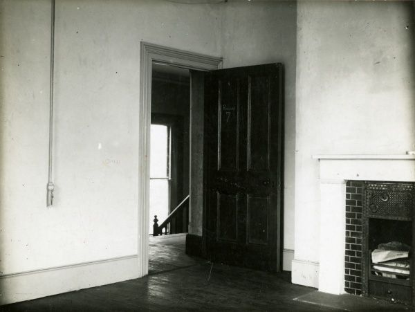 Undated photograph of the Blue Room at Borley Rectory, where many 'manifestations' took place. HPG/1/3/4 (vii)