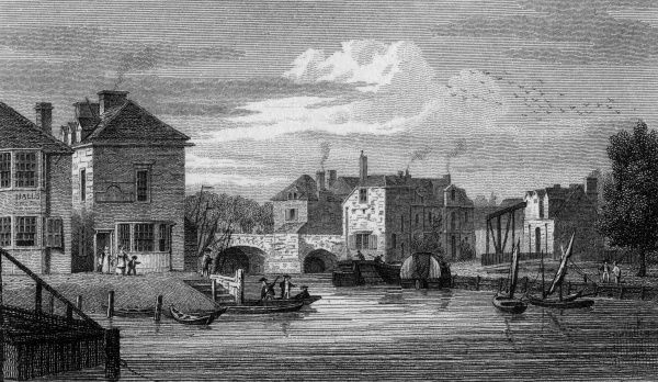The Boat House at Folly Bridge, Oxford Date: 1821
