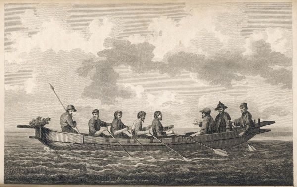 Boat of Tchoka, Tartary, observed by La Perouse in the course of his famous voyage