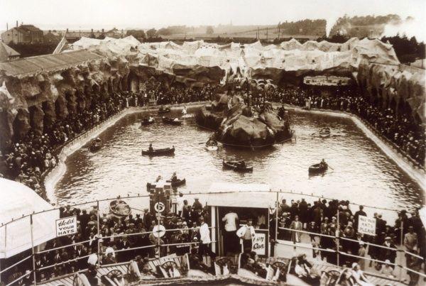 The Boating Pool at Butlin's Amusement Park, Felixstowe