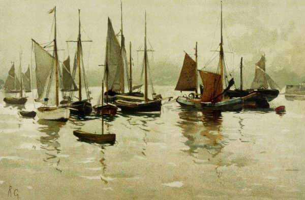 A miscellany of boats on the Orwell at Ipswich, Suffolk