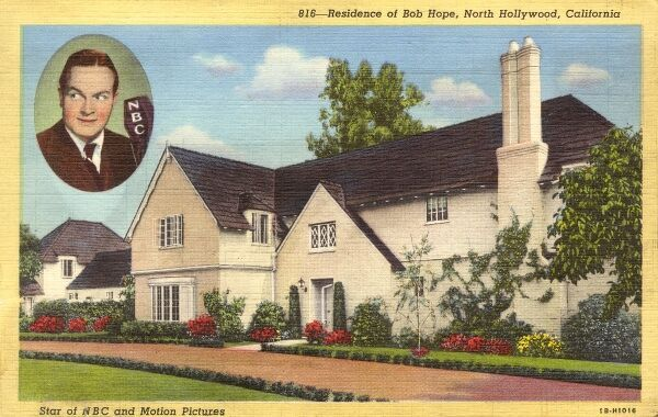 Bob Hope's home in North Hollywood, California, USA Date: circa 1939