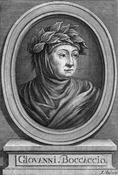GIOVANNI BOCCACCIO Italian writer, best known for 'Il Decamerone'. Date: 1313 - 1375