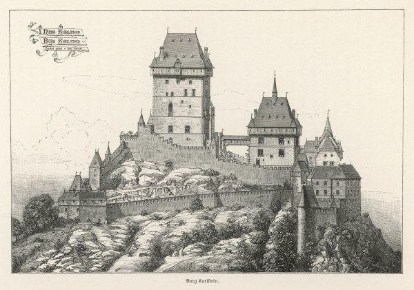BURG KARLSTEIN - an impressively romantic castle of Bohemia (present-day Czech Republic)