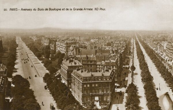 The Avenues of The Bois de Boulogne and the Grande Armee, Paris, France