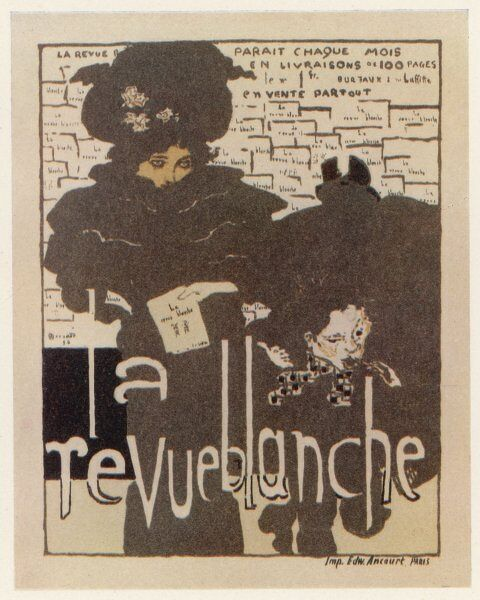 Poster advertising French magazine 'La Revue Blanche&#39