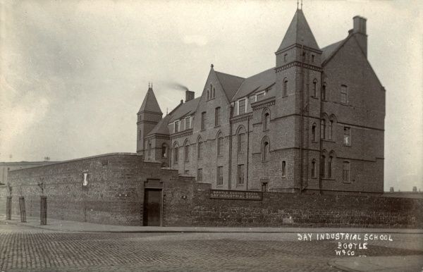 The Day Industrial School on Marsh Lane, Bootle, Lancashire. The school opened in 1895 to provide non-residential training facilities for youths sent there by the courts. Date: circa 1905