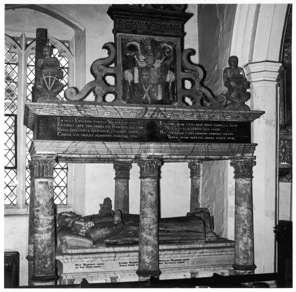 Borley Church - the Waldegrave monument