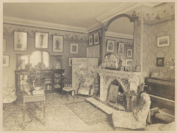 The drawing room during Harry Bull's occupancy