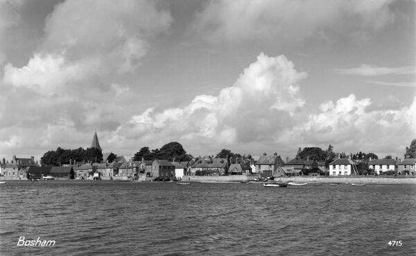 High tide at Bosham, West, Sussex - a view of this charming coastal village, the site of King Canute's aborted attempt to hold back the tide