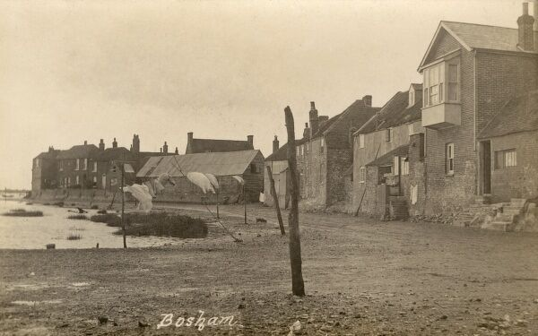 The Waterfront - Bosham, West, Sussex - a view of this charming coastal village, the site of King Canute's aborted attempt to hold back the tide. Date: 1921