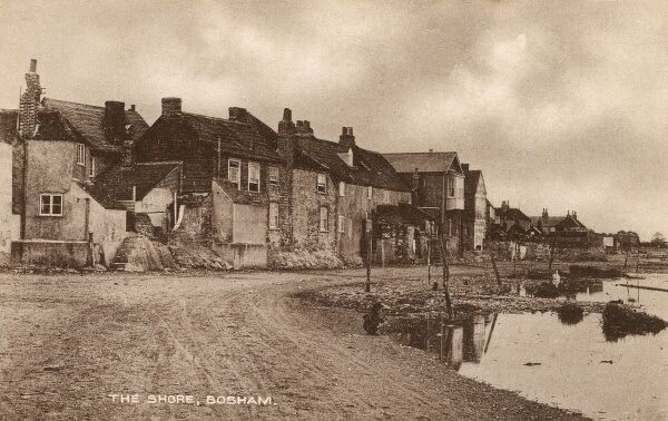 The Shoreline - Bosham, West, Sussex - a view of this charming coastal village, the site of King Canute's aborted attempt to hold back the tide. Date: circa 1930