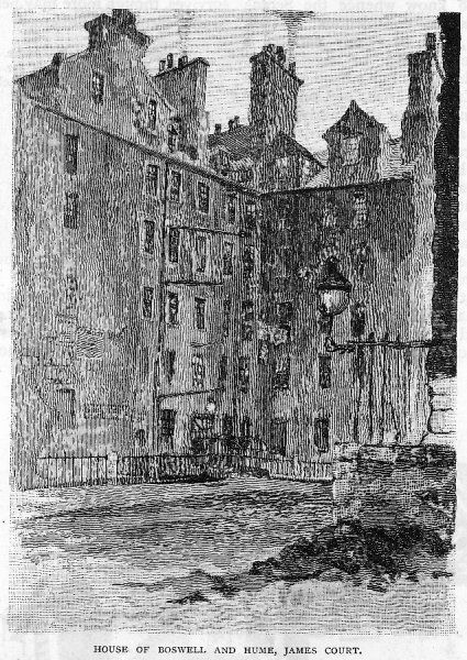 BOSWELL'S home in James Court, Edinburgh. Hume also lived here