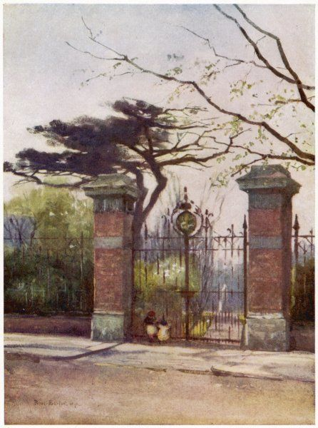 The entrance to the Apothecaries' Garden (the Old Physick Garden), Chelsea, London