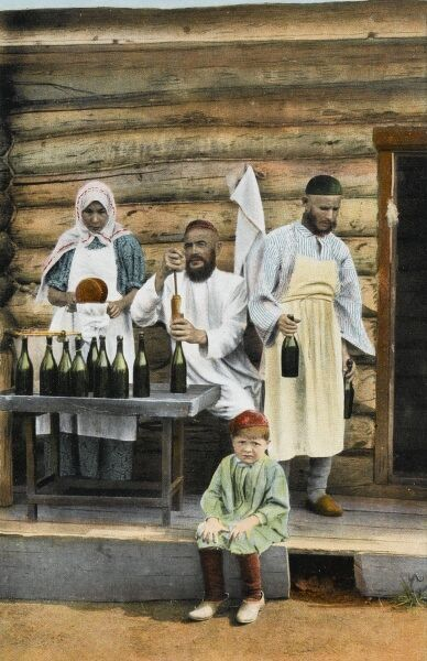 Russia - the bottling of Kumis by a Muslim family. Kumis is a fermented dairy product traditionally made from horse's (mare's) milk. The drink remains important to the people of the Central Asian steppes, including the Turks, Bashkirs