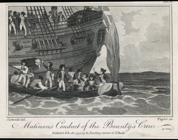 Bligh and his companions are put into an open boat