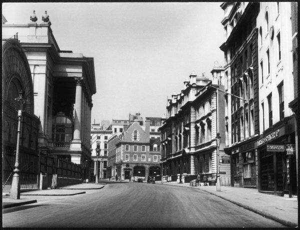 A fine view of Bow Street, London, on a summer's day, only two months before the outbreak of World War Two. The Royal Opera House can be seen to the left