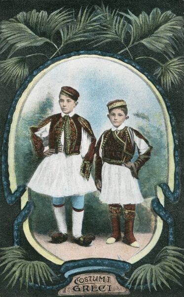 Two Boys in traditional Greek Costume
