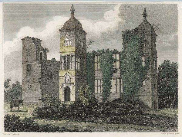 The desolate ruins of Brambletye, Sussex, a fine Jacobean mansion allowed to crumble into dust