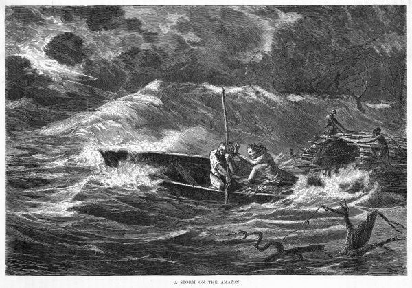 Fishermen caught in a storm