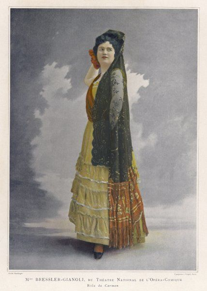 Madame Bressler-Gianoli in the title role in the production by the Opera Comique, Paris