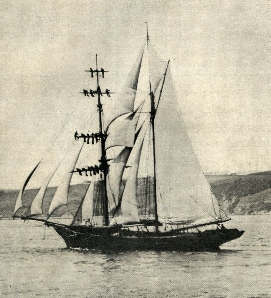 "The Brigantine ""Steadfast"" - a companion vessel to the Metropolitan Asylums Board Training Ship ""Exmouth"". These ships were used for the naval training of pauper children, most of whom came from London workhouses"