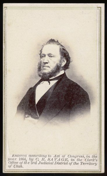 BRIGHAM YOUNG (1801 - 1877) Mormon leader, photographed in June 1866