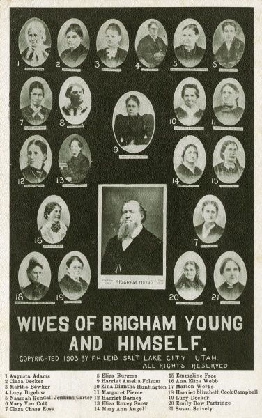 Brigham Young (1801-1877) - Leader in the Latter Day Saint movement and American settler