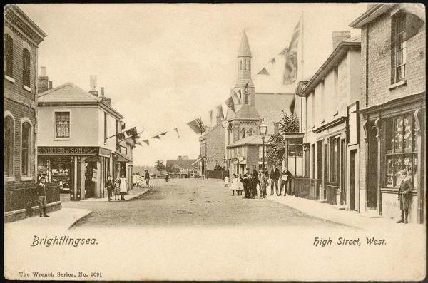 Brightlingsea, Essex, High Street West - the flags may be for Edward VII's Coronation