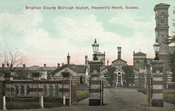 Brighton County Borough Asylum at Haywards Heath opened in 1857 as the Sussex County Lunatic Asylum