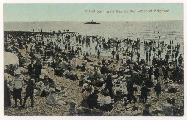 Brighton, Sussex: a hot summer's day on the sands