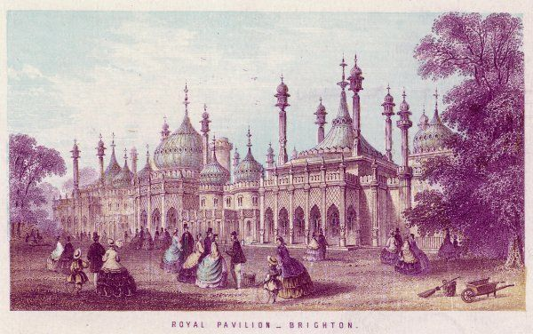 A general view of the Brighton Pavilion Date: circa 1851