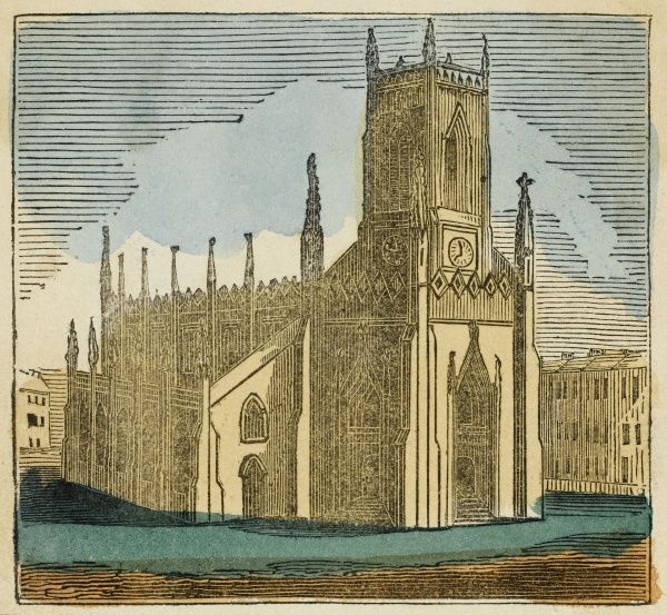 Brighton, Sussex: St. Peters Church. Gothic in design, erected in 1827
