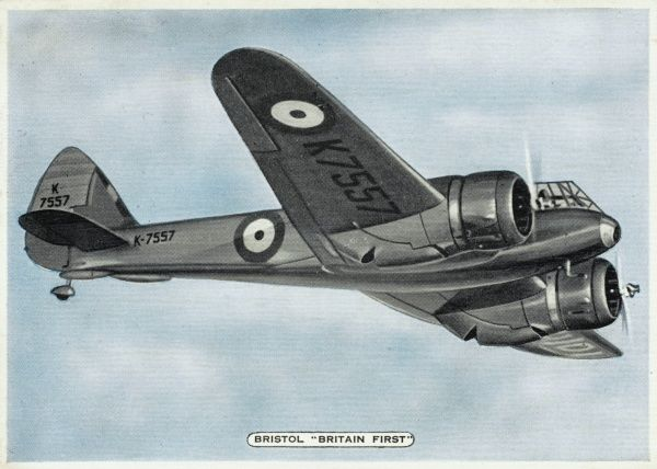 This is the 142M 'Britain First', prototype of the 'Blenheim' which will be one of the most successful light bombers of World War Two, more than 3000 being built