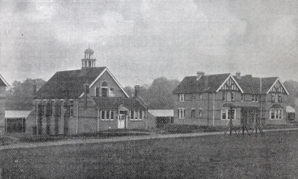 The school/hall (left) of the Bristol Board of Guardians' cottage homes at Dowend, opened in 1904 to house pauper children away from the workhouse. Date: 1904