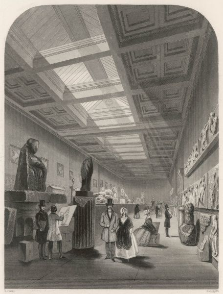 The Elgin Room, housing the marbles and other treasures looted from Greece by Lord Elgin in 1812 and bought by the nation in 1816 for 35,000 pounds
