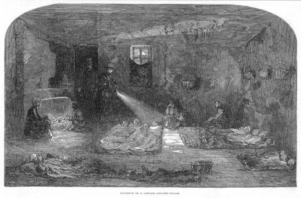 Interior of a lodging house