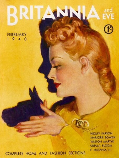 Front cover illustration featuring a beautiful blonde woman who creates a scottie dog shadow on the wall behind her using her hands