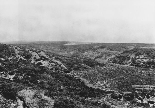 Kings of Scottish Borderers attacking trench J10 at Gallipoli during World War I