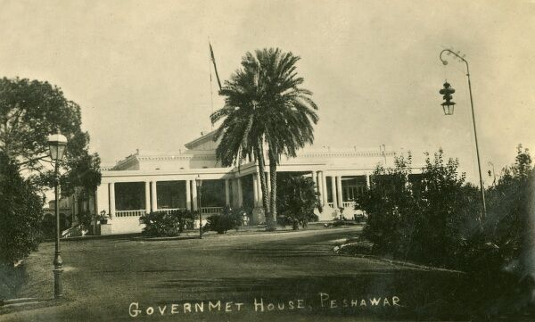 The British Government House, Peshawar. Located on the edge of the Khyber Pass near the Afghan border, Peshawar is the commercial, economic, political and cultural capital of the Pashtuns in Pakistan