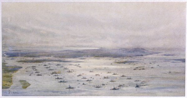 The British Grand Fleet assembles at Scapa Flow