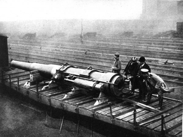 A British gun which aided the attack on German troops in Antwerp