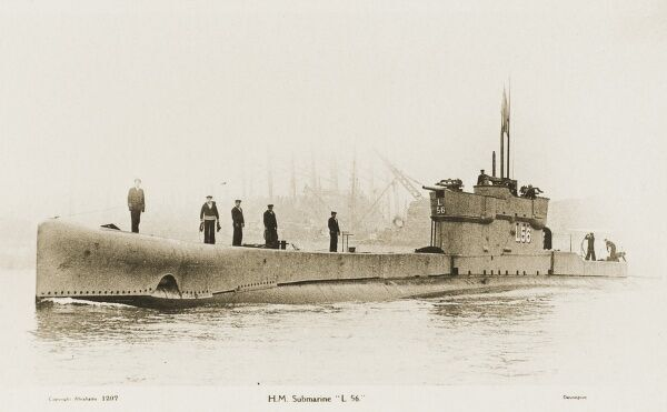 British L56 Submarine. Launched in 1919 and broken up in 1938