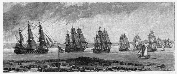 The British prepare to leave New York : a fleet of vessels will take them home, leaving the colonists to fend for themselves as best they can
