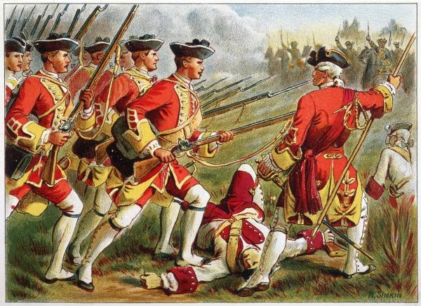 British infantry (Red Coats)