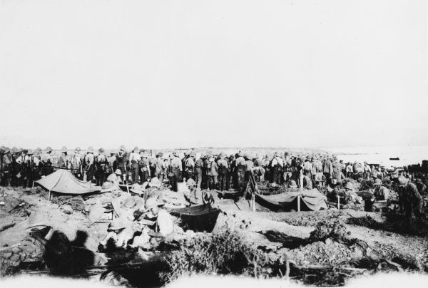 British troops from the Royal Navy Division at Gallipoli during World War I