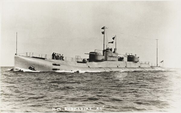 The British Submarine HM X1 Commisioned in 1925 and scrapped at Pembroke in 1935