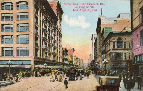 Broadway near 7th Street looking north, Los Angeles, California, USA Date: 1910s