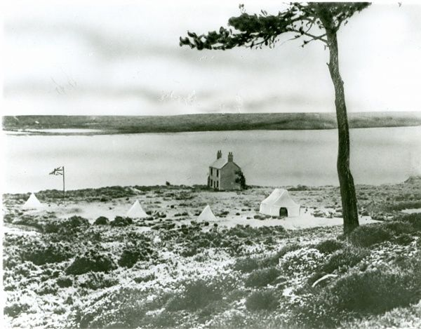 Site of the 1907 Brownsea Island Experimental Camp. Date: 1907