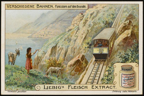 The Brumate funicular, carrying visitors to Como into the mountains, was originally powered by steam, but soon converted to electricity. It is operated by cable